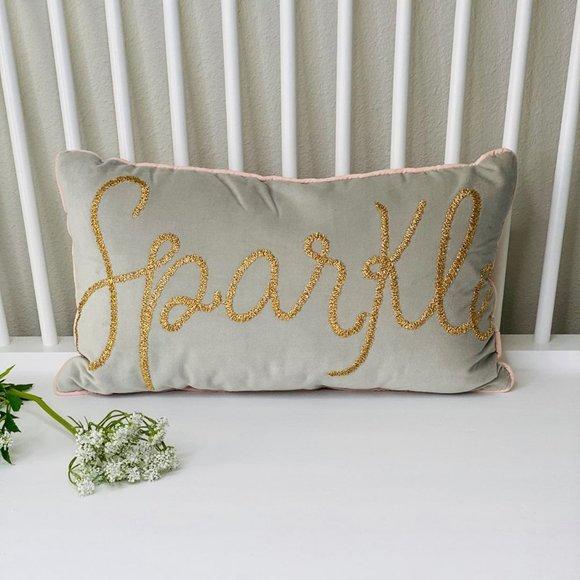 Pillowfort 'sparkle' lumbar pillow
